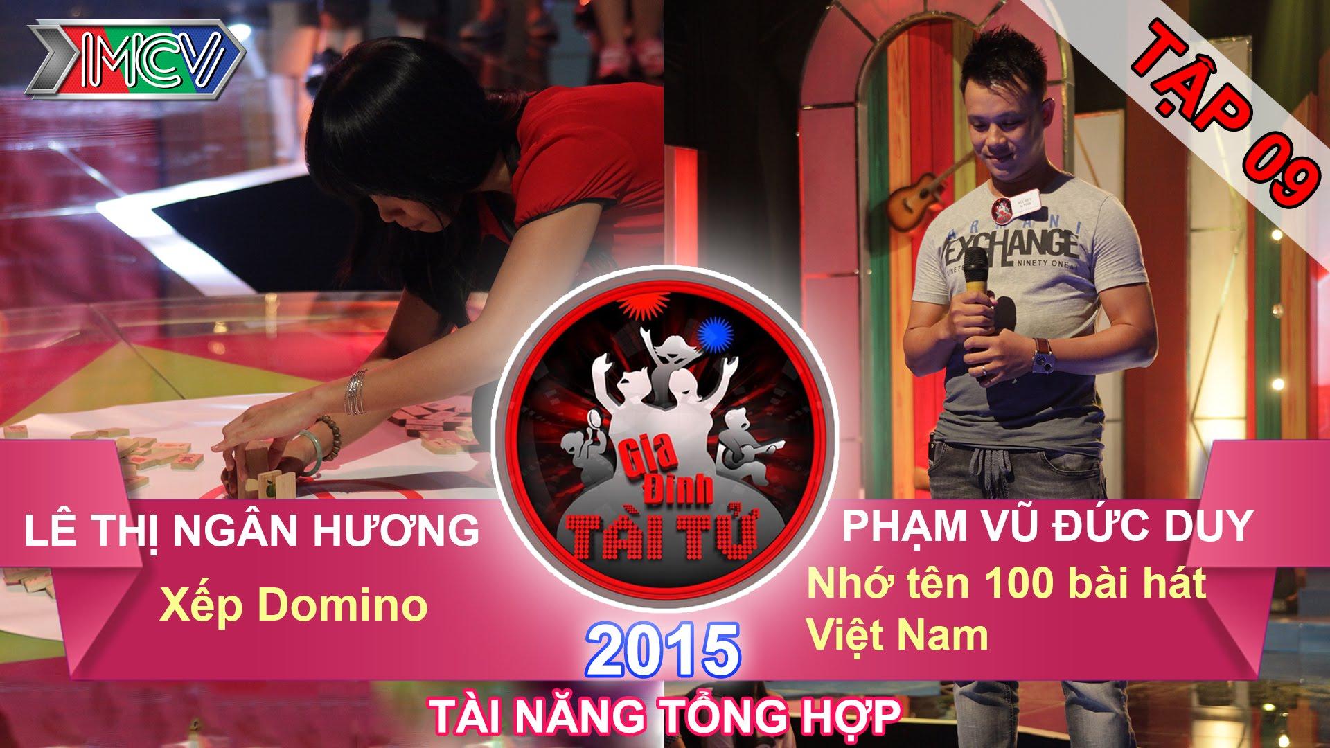 gia-dinh-tai-tu-tap-9-thu-thach-xep-domino-thu-thach-nho-ten-100-bai-hat-viet-nam